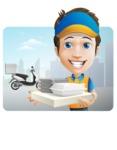 Charming Courier Guy Cartoon Vector Character AKA Tony On-track - Shape 1