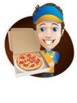 Charming Courier Guy Cartoon Vector Character AKA Tony On-track - Shape 4