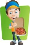 Charming Courier Guy Cartoon Vector Character AKA Tony On-track - Shape 6
