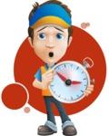 Charming Courier Guy Cartoon Vector Character AKA Tony On-track - Shape 8