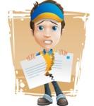 Charming Courier Guy Cartoon Vector Character AKA Tony On-track - Shape 11