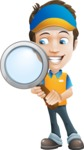 Charming Courier Guy Cartoon Vector Character AKA Tony On-track - Search