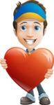 Charming Courier Guy Cartoon Vector Character AKA Tony On-track - Love