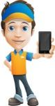 Charming Courier Guy Cartoon Vector Character AKA Tony On-track - iPhone