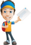 Charming Courier Guy Cartoon Vector Character AKA Tony On-track - Letter 5