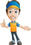 Charming Courier Guy Cartoon Vector Character AKA Tony On-track - Show 2
