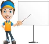 Charming Courier Guy Cartoon Vector Character AKA Tony On-track - Presentation 1