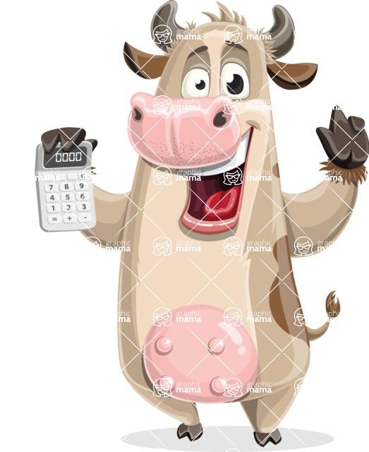 Cute Cow Cartoon Vector Character AKA Cody the Active