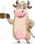 Cody the Active Cow - Coffee