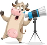 Cody the Active Cow - Telescope