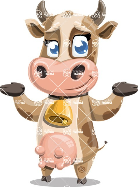 Young Cow Cartoon Vector Character AKA Colleen the Gentle Cow - Sorry