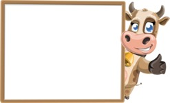 Young Cow Cartoon Vector Character AKA Colleen the Gentle Cow - Presentation 5