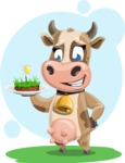 Young Cow Cartoon Vector Character AKA Colleen the Gentle Cow - Shape 6