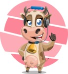 Young Cow Cartoon Vector Character AKA Colleen the Gentle Cow - Shape 9