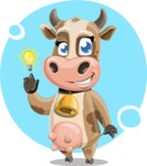 Young Cow Cartoon Vector Character AKA Colleen the Gentle Cow - Shape 12