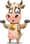 Young Cow Cartoon Vector Character AKA Colleen the Gentle Cow - Lost