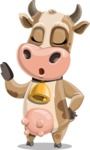 Young Cow Cartoon Vector Character AKA Colleen the Gentle Cow - Bored 2