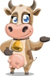 Young Cow Cartoon Vector Character AKA Colleen the Gentle Cow - Showcase