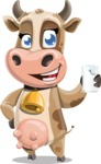 Young Cow Cartoon Vector Character AKA Colleen the Gentle Cow - Milk 4