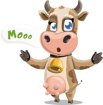 Young Cow Cartoon Vector Character AKA Colleen the Gentle Cow - Mooo!