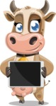 Young Cow Cartoon Vector Character AKA Colleen the Gentle Cow - Tablet 1