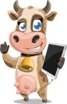 Young Cow Cartoon Vector Character AKA Colleen the Gentle Cow - Tablet 2
