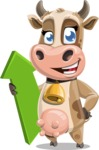 Young Cow Cartoon Vector Character AKA Colleen the Gentle Cow - Pointer 1