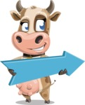 Young Cow Cartoon Vector Character AKA Colleen the Gentle Cow - Pointer 2