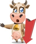 Young Cow Cartoon Vector Character AKA Colleen the Gentle Cow - Pointer 3