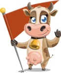 Young Cow Cartoon Vector Character AKA Colleen the Gentle Cow - Checkpoint