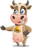 Young Cow Cartoon Vector Character AKA Colleen the Gentle Cow - Show 2