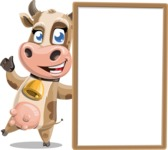 Young Cow Cartoon Vector Character AKA Colleen the Gentle Cow - Presentation 4