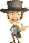 Cowboy Man Cartoon Vector Character AKA Mr. Western - Point 2