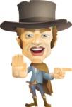 Cowboy Man Cartoon Vector Character AKA Mr. Western - Direct Attention 1