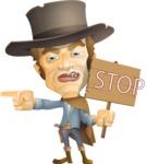 Cowboy Man Cartoon Vector Character AKA Mr. Western - Direct Attention 2