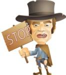Cowboy Man Cartoon Vector Character AKA Mr. Western - Stop 1