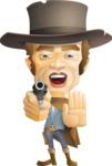 Cowboy Man Cartoon Vector Character AKA Mr. Western - Stop 2