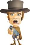 Cowboy Man Cartoon Vector Character AKA Mr. Western - Shocked