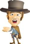 Cowboy Man Cartoon Vector Character AKA Mr. Western - Roll Eyes