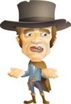Cowboy Man Cartoon Vector Character AKA Mr. Western - Lost 1