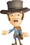 Cowboy Man Cartoon Vector Character AKA Mr. Western - Lost 2