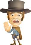Cowboy Man Cartoon Vector Character AKA Mr. Western - Goodbye