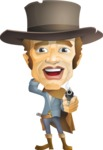 Cowboy Man Cartoon Vector Character AKA Mr. Western - Oops