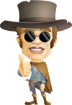 Cowboy Man Cartoon Vector Character AKA Mr. Western - Sunglasses 1