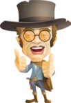 Cowboy Man Cartoon Vector Character AKA Mr. Western - Sunglasses 2