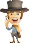 Cowboy Man Cartoon Vector Character AKA Mr. Western - Support 1