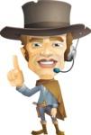 Cowboy Man Cartoon Vector Character AKA Mr. Western - Support 2
