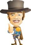 Cowboy Man Cartoon Vector Character AKA Mr. Western - Ribbon