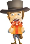 Cowboy Man Cartoon Vector Character AKA Mr. Western - Gift
