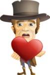 Cowboy Man Cartoon Vector Character AKA Mr. Western - Love